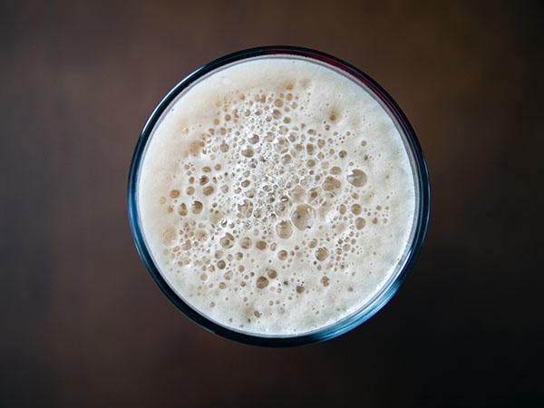 Habos sör felülnézetből