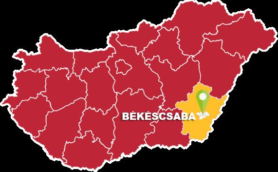 Békéscsaba és Békés megye térkép
