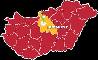 Budapest és Pest megye térkép