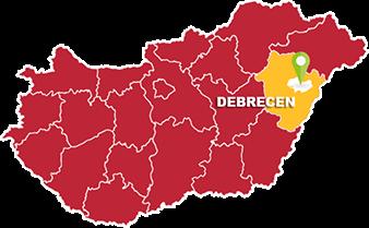 Debrecen és Hajdú-Bihar megye térkép