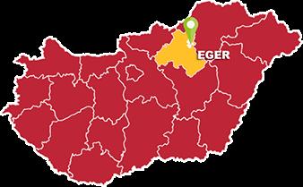 Eger és Heves megye térkép