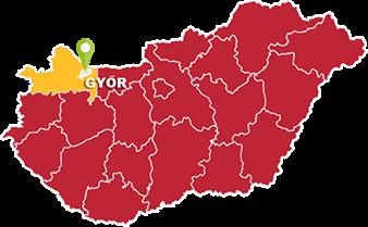 Győr és Győr-Moson-Sopron megye térkép