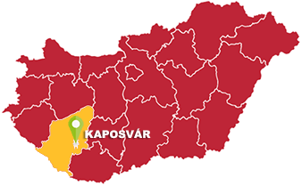 Kaposvár és Somogy megye térkép