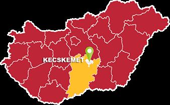 Kecskemét és Bács-Kiskun megye térkép