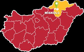 Miskolc és Borsod-Abaúj-Zemplén megye térkép
