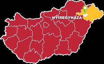 Nyíregyháza és Szabolcs-Szatmar-Bereg megye térkép