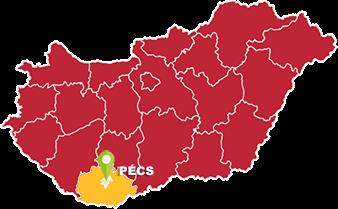 Pécs és Baranya megye térkép