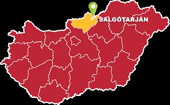 Salgótarján és Nógrád megye térkép