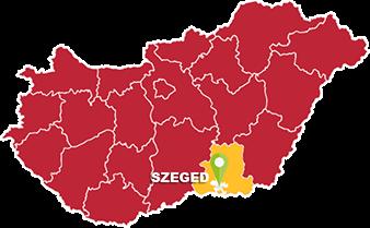 Szeged és Csongrád megye térkép