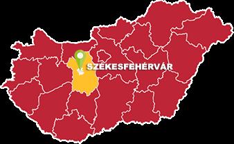Székesfehérvár és Fejér megye térkép