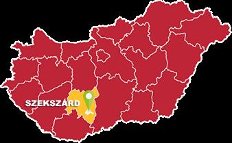 Szekszárd és Tolna megye térkép