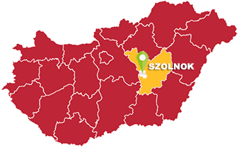 Szolnok és Jász-Nagykun-Szolnok megye térkép
