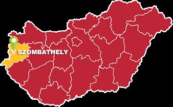 Szombathely és Vas megye térkép