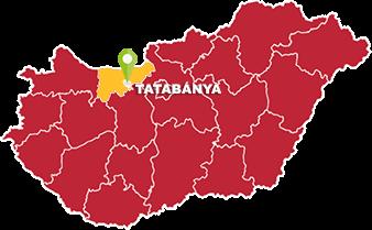 Tatabánya és Komárom-Esztergom megye térkép