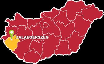 Zalaegerszeg és Zala megye térkép